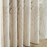 環境に優しい木ポリエステル亜麻のジャカード停電の窓カーテン(29W0037)
