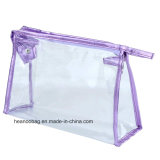 Promotion Custom Transparent Wash Clear Zipper PVC Maquillage / Cosmetic Bag