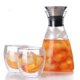 Jarro de chá de gelo livre de gotejamento de 3 in1 com 2 x 250 ml de aquecimento de parede dupla