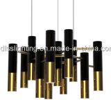 Luces de aluminio del colgante de la lámpara de la dimensión de una variable de barra del oro moderno caliente