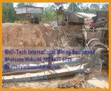 Planta que se lava de la arena del oro del mineral de la pantalla aluvial de la criba