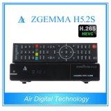Tuners jumeaux officiels du système d'exploitation linux Enigma2 DVB-S2+S2 de Zgemma H5.2s de logiciels de 100% avec Hevc/H. 265