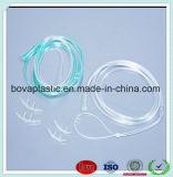 Catetere nasale del Cannula dell'ossigeno del PVC della radura non tossica a gettare