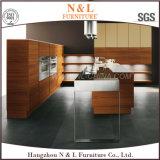 Gabinete de cozinha de madeira da mobília da HOME do folheado do lustro elevado luxuoso do projeto