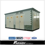 プレハブのサブステーションの分布の変圧器のサブステーションの屋外のサブステーション
