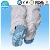 Overshoes higiênicos cirúrgicos médicos da tampa da sapata dos PP com faixa elástica