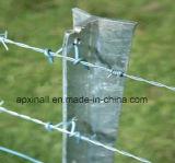 塗られた農場の塀のヒツジの塀PVCは上塗を施してあるに電流を通し、