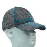 Grauer und blauer beiläufiger Acrylschutzkappe Flexfit Baseball-Hut