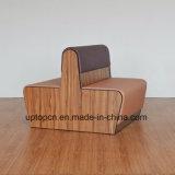 (SP-KS379) Banquette di cuoio del laminato di legno della disposizione dei posti a sedere della cabina da vendere