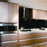 O melhor gabinete de cozinha UV de venda da pintura do metal lustroso elevado clássico