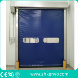 Ad alta velocità a riparazione automatica del tessuto del PVC rotolano in su il portello di traffico del congelatore per il magazzino