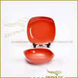 丸型の赤い石器のディナー・ウェアの一定の卸売