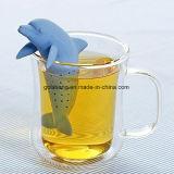 Дельфин Bottlenose стрейнера чая Infusers чая кремния животный 3.7X10.6X5.8cm