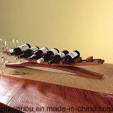 Het nieuwe Ontwerp past de Tribune van de Vertoning van de Houder van de Fles van de Wijn van de Vorm van de Brug aan