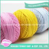 Frische Farbe Gesundes gefärbtes Baby-Strickgarn Natural Fiber Combed 100% Baumwolle Garn