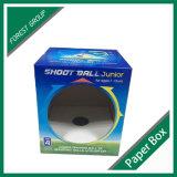 Caja de bola acanalada de fútbol de papel con el diseño de la ventana