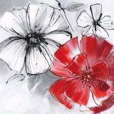 Het tot bloei komende Met de hand gemaakte Olieverfschilderij van de Bloem met Uitstekende kwaliteit