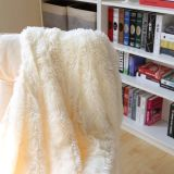 Coperta lunga luminosa del panno morbido di Sytle PV dei capelli della peluche