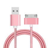 Nylon Trenzado USB Cable de datos Cable de teléfono móvil USB para iPhone 4