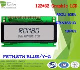 122X32 MCU Graphic LCD Screen, Sbn1661g, 18pin, voor POS, Deurbel, Medical, Cars