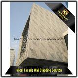 Parede decorativa de cortina de alumínio artística para edifícios