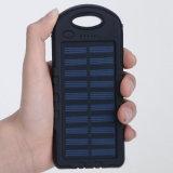 5000mAh batterie d'énergie solaire avec double chargeur de sortie USB