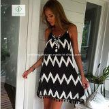 Фабрика платья шифоновой юбки Tassel нашивки Euramerican способа сексуальная макси