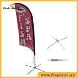 Bandeira de praia da impressão de Digitas da fibra de vidro do anúncio ao ar livre/bandeira da pena