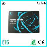 4.3 Zoll-Entwurfs-Drucken-videobroschüre-Papierkarte