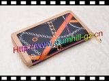 Славный бумажник таможни бумажника неподдельной кожи застежки -молнии