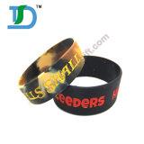 Wristband nero promozionale del silicone dei Wristbands di gomma