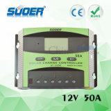 Controlador de sistema solar inteligente do controlador da carga do painel solar de Suoer 50A PWM (ST-C1250)