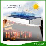 2017 la nueva pared solar solar de la luz 760lm 48 LED de la versión 6W enciende la lámpara impermeable de la seguridad del jardín del Nightlight del sensor de movimiento de PIR