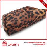 Saco cosmético do cetim novo do leopardo da forma 2016, senhora Composição Saco