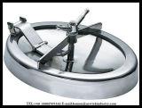Couverture de trou d'homme elliptique sanitaire d'acier inoxydable pour des récipients à pression