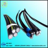 Câble d'ABC de câble isolé par temps système normal d'Al 0.6/1kv/XLPE des BS 7870-5