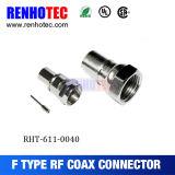 Bajo conector masculino de la compresión F del cable de la aplicación del costo CATV