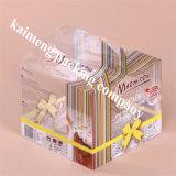 Коробка пакета пирожня причудливый любимчика ясности пакета оптовой продажи конструкции пластичная с смычком (коробка пирожня)