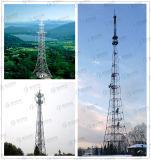 Hot-DIP Galvaniserende Hoekige Toren van het Frame van het Staal van Telecommunicatie