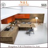 Armadio da cucina di legno della mobilia della mobilia domestica di lusso della quercia con Blum Handware