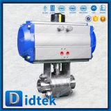 Válvula de esfera pneumática da flutuação de Didtek API 6D Ss316