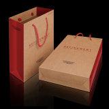 Sac à provisions fait sur commande professionnel estampé par logo direct de papier d'emballage d'usine