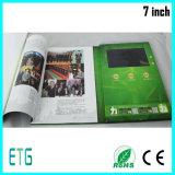 7inch LCD 스크린 브로셔 광고를 위한 영상 인사장