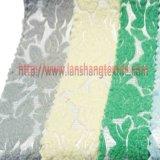 자카드 직물 직물 여자 복장 홈 직물을%s 털실에 의하여 염색되는 화학 섬유 폴리에스테 직물