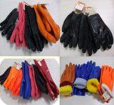 Gants 2017 rouges de sûreté de PVC de poignet de Knit de garniture de Ddsafety Innerlock