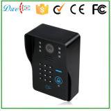 Téléphone visuel de porte de clavier numérique de câble 7 par pouces avec l'intercom de fonction de carte d'identification