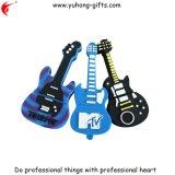 昇進(YH-USB004)のための柔らかいPVC USBのギターの形