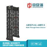 100セキュリティレベルが付いている高デシベルアラームカウンターレコード戸枠の金属探知器