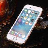 Caisse dure en cristal de chrome de stand de boucle de cas de téléphone cellulaire pour l'iPhone 7 6 4.7 positifs
