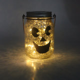 Outdoor Twinkling Firefly Fairy Solar Lights in Mason Jar